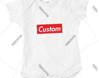 "Baby - Onesie - Jumper - Rabbit Skins®- Premium Retail Fit ""Custom"", Box Logo, Classic, Fashion 2017 (NB-24MOS)"