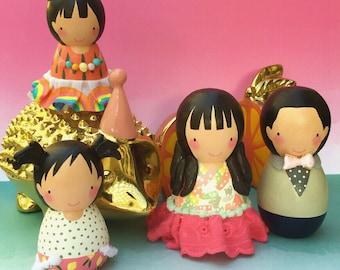 Custom Handmade Birthday or Doggie Cake Topper or Nameplate Desk Topper Mini-me Figurine - Doll Only