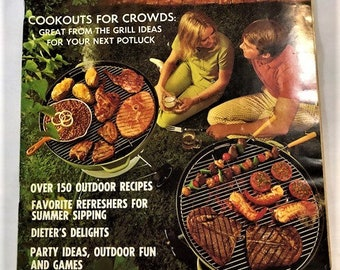 Better Homes & Gardens Magazine Cookout Ideas and Outdoor Entertaining (1970)