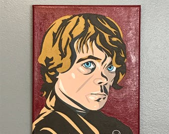 "8""x10"" ORIGINAL ""Tyrion's Game"" - acrylic pop art painting - Tyrion Lannister Peter Dinklage Game of Thrones GOT HBO"