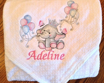 Soft gauze baby blanket, personalized baby blanket, 100% cotton, embroidery name, applique, boys, girls, perfect gift, cotton baby blanket