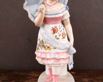 Sale Girl with Umbrella Figural Match Holder