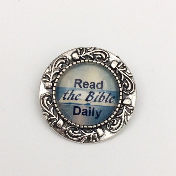 """JW Glass Circle Pin, Available in 5 Colors, Approx. 1.25"""" Circle"""