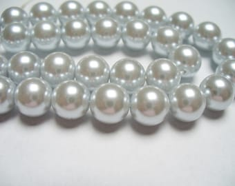 Glass Pearls Silver 8MM