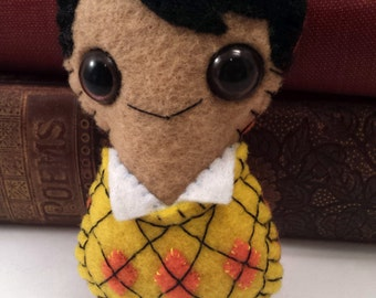 Rajesh Koothrappali Big Bang Theory plushie (made to order)