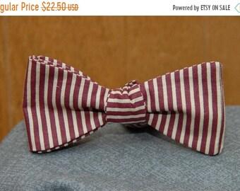 Crimson and Gold Micro Stripe  Bow tie