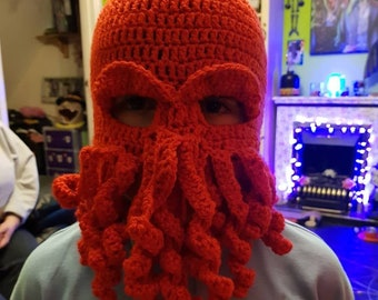 Cthulu mask ,octopus ,squid,kracken ,fancy dress , halloween , pirates ,