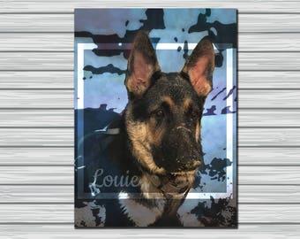 CUSTOM DIGITAL pet portrait, double exposure portrait, digital pet portrait, custom pet portrait, pet memorial, pet gift, dog portrait, cat