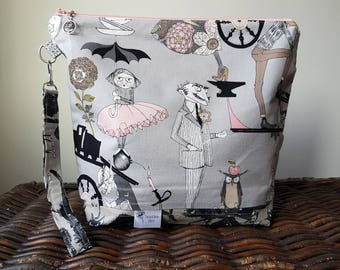 """Knitting Project Bag - Large """"Ghastlies"""""""