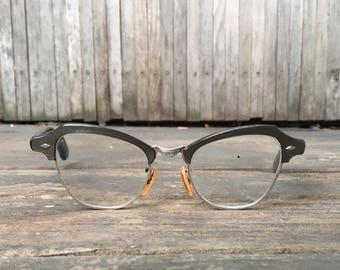1950s Grey Cat Eye Glasses