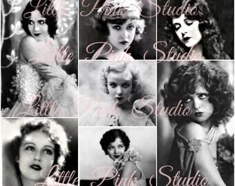 Glamour Girls,   Printable Collage Sheet (digital download, printable)