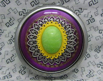 Compact Mirror Mardi Gras Bridesmaids Gift Comes With Protective Pouch