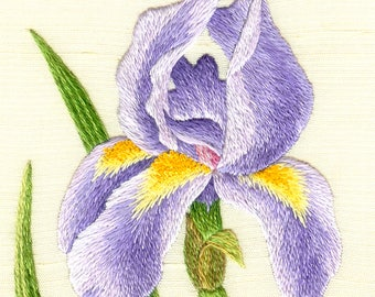 Hand Embroidery Kit - Iris Needle Painting Embroidery - Embroidery Art Picture
