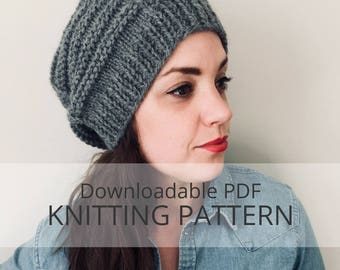 DIGGER bulky textured toque [downloadable PDF knitting pattern]