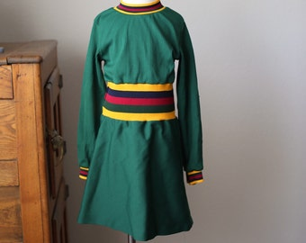 Vintage Girl's Polyester Long Sleeved Mod Dress