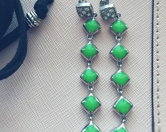 High quality earrings from 925 silver, enamel and cubic zirkonia