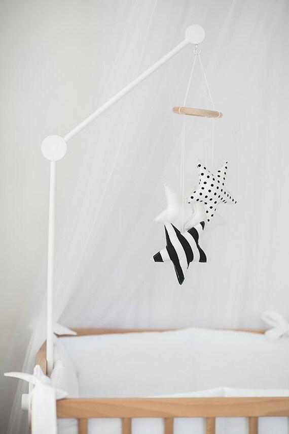 Crib Mobile Arm White Wooden Mobile Hanger Baby Crib