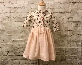 Pink Cow Girl Dress