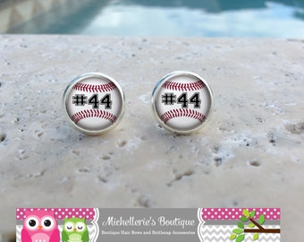 Baseball Earrings, Baseball Jewelry, Baseball Accessories, Personalized Baseball,Gifts for Her, Gifts under 10, MB321