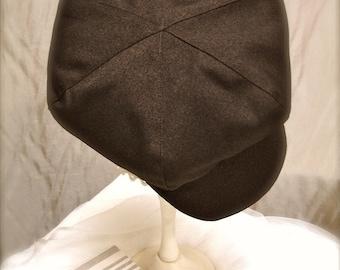 Dark brown newsboy hat, brown beret  hat for boys