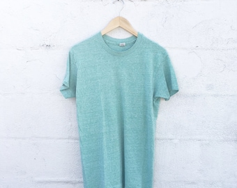 70's Basic Heather Green Tee