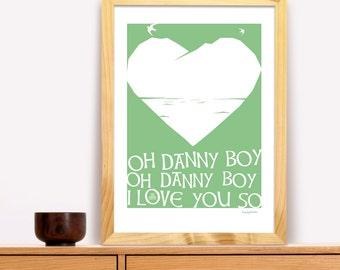 Oh Danny Boy Modern Irish Trad Poster