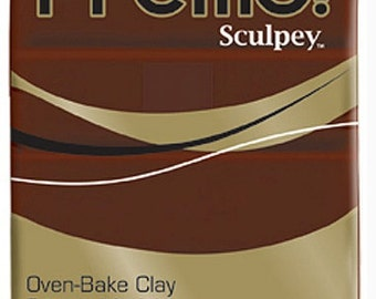 Burnt Umber Premo! Sculpey Oven-Bake Polymer Clay, 2 oz, Polymer Clay