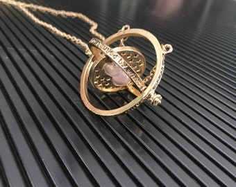 Harry Potter Hermoines Time Turner Inspired Necklace