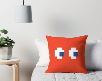 Pac-Man Ghost Pillow, Atari, Video Game, Pac-Man, Blinky, Inky, Pinky, Clyde, Pac Man, Cushions, 8-Bit, Pixel, Retro, Donkey Kong, Pong