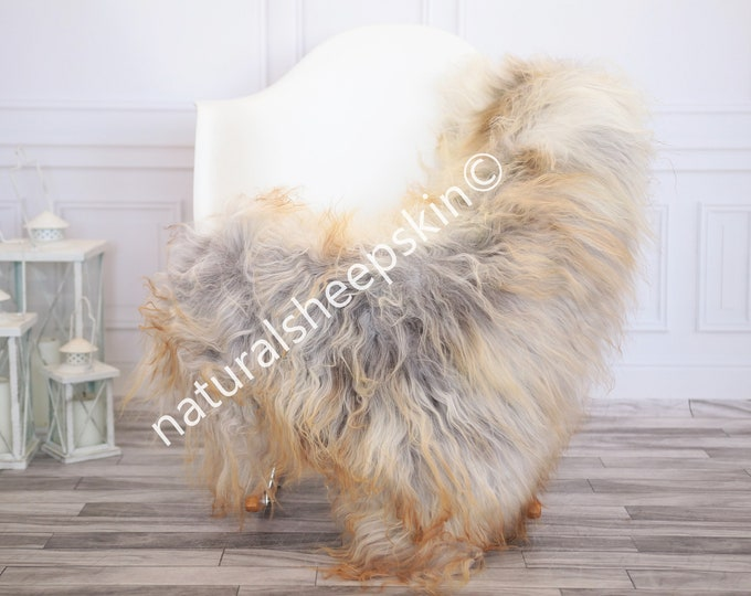 Icelandic Sheepskin | Real Sheepskin Rug | Blonde Gray Sheepskin Rug | Fur Rug | Homedecor #febisl20