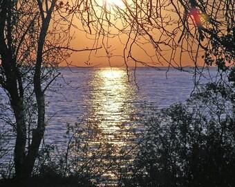 Island at Dawn 4x6 Sunrise Nature Beach Photography