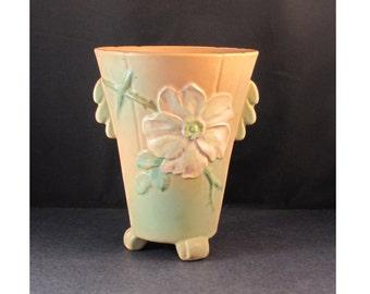 Weller Wild Rose Light Orange Vase 8 inch Clearance