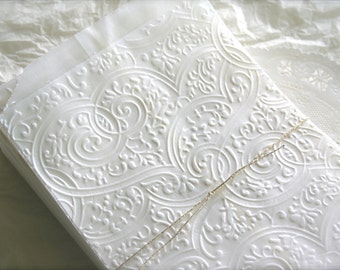 25 Glassine Favor Bags, Lace Heart Flourishes