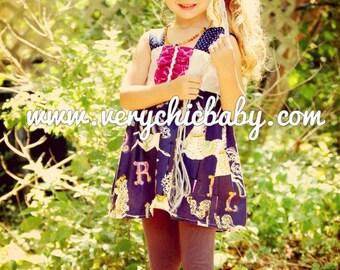 Carousel Tunic, Carousel Dress, Carousel Birthday Tunic, Carousel Birthday Dress, Carousel Party Dress, Carousel Girls Dress, Carousel Dress