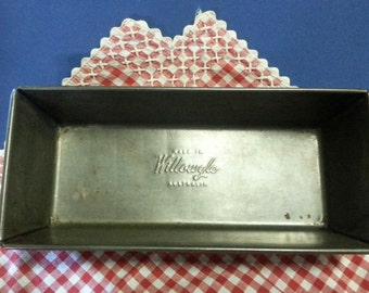 Small Vintage Willow Loaf Tin / Vintage Willowglo Made in Australia Cake Tin