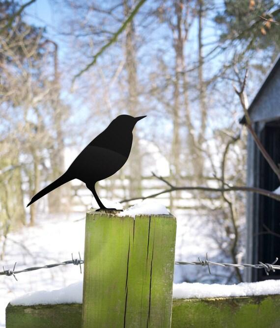 Garden Bird, Metal Bird Yard Ornament, Gardener Gift for Bird Lovers