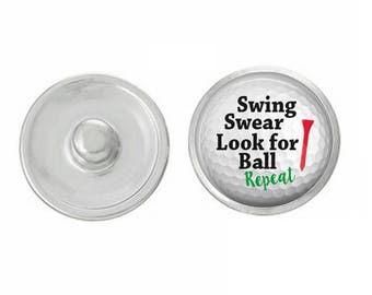 Swing Swear Look for Your Ball Snap Pair with our Base Pieces - Compatiable with GingerSnaps and Magnolia and Vine Pieces - HandPressed