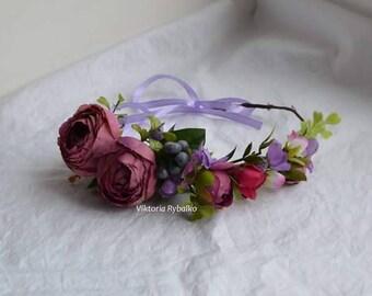 Todler wreath Kids Flower crown Flower wreath Boho flower crown Hair wreath flower crown Girl floral wreath todlers flower crown