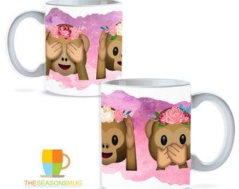 Monkey Emoji Mug  Collection