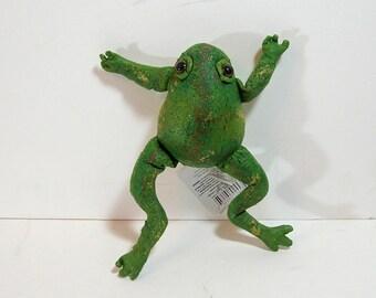 Vintage Stuffed Frog For Crafts