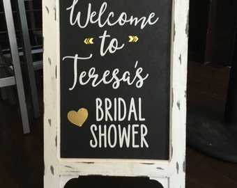 Bridal Shower Welcome Chalkboard Sign