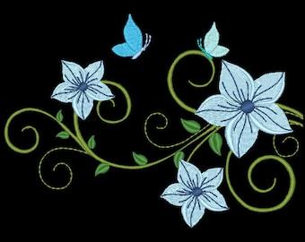 FANCY FLOWERS #3- 1 Machine Embroidery Design Instant Download 4x4 5x5 6x6 hoop (AzEB)