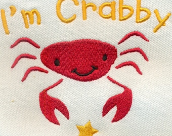 I'm Crabby Crab Embroidery Design - Instant Digital Download