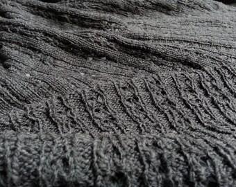 Wool Openwork Rib Sweater Knit by the Half Yard