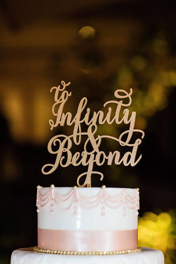 To Infinity and Beyond, Disney wedding, To Infinity and Beyond Cake Topper, Wedding Cake Topper, Cake Topper