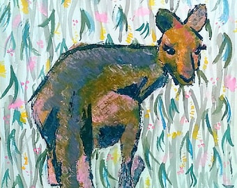Wallaby A4 or A3 prints