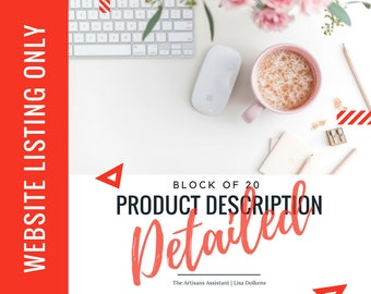 Website - BLOCK of 20 Update your Copy on your Website with a Detailed Product Description Upgrade | Google SEO Rich Kewords Great CTA's