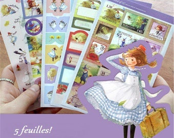 5 beautiful stickers stickers boards spirit fairy tale