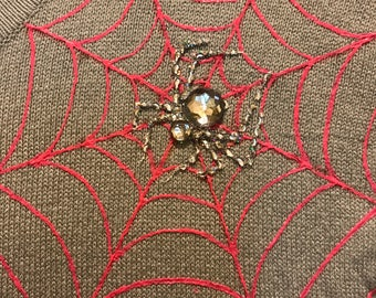 Hand Painted spider cardigan