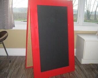Extra large sandwich chalkboard Apple red sidewalk chalkboard A frame wedding restaurant sign  40 x 24 inches